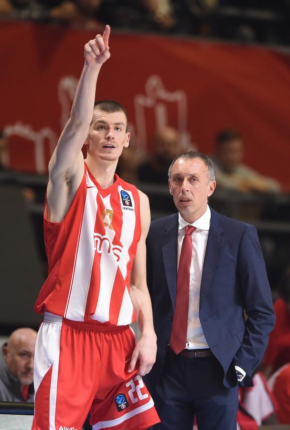 Boriša Simanić i trener Crvene zvezde Milan Tomić