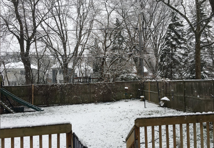 Čikago, sneg, Vaskrs