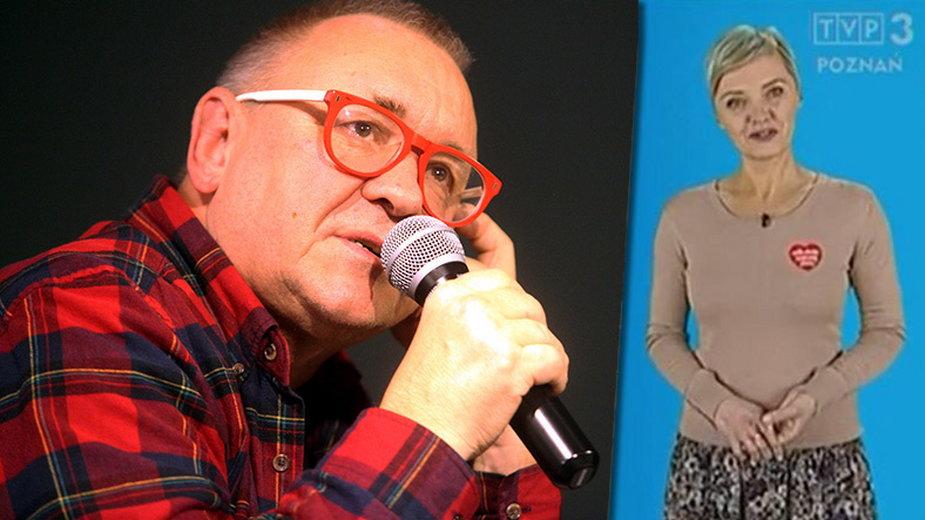Jerzy Owsiak i Patrycja Kasperczak