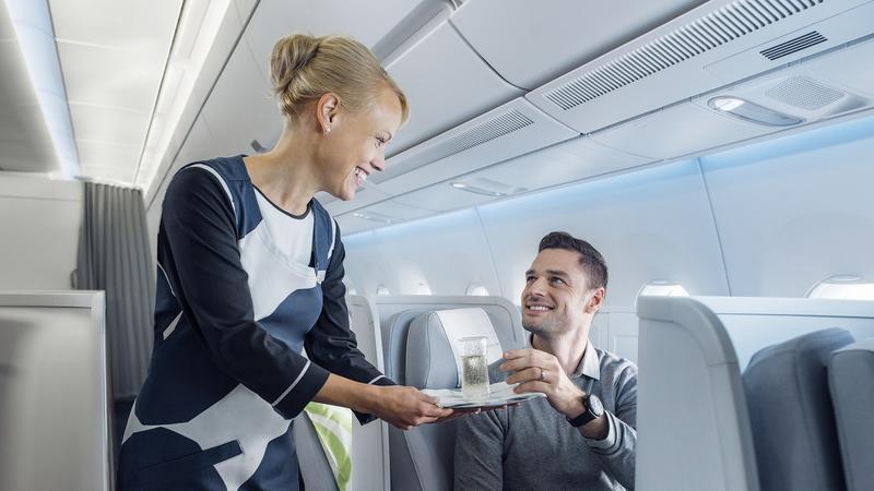 Finnair A350 business class, service_102