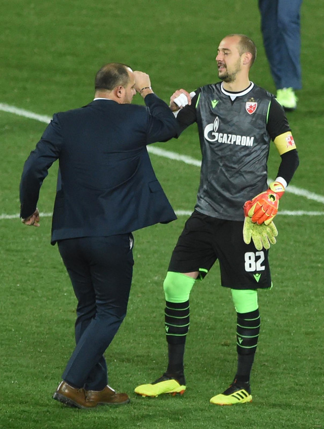 Dejan Stanković i Milan Borjan, trener i kapiten FK Crvena zvezda