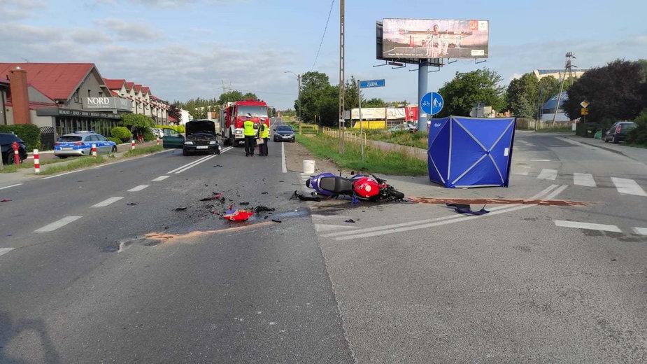 Wypadek na Lubieszyńskiej w Mierzynie, foto: Komenda Powiatowa Państwowej Straży Pożarnej w Policach