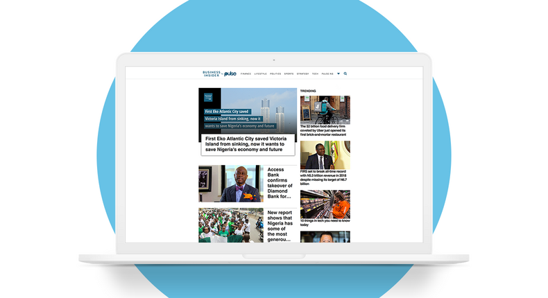 The new Business Insider SSA by Pulse website homepage