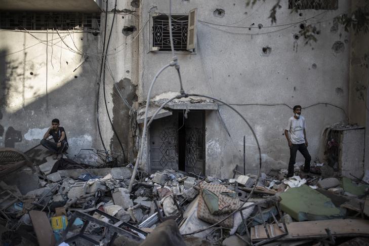 Eddig legalább 140 palesztin halálos áldozata van az izraeli légitámadásoknak / Fotó: MTI