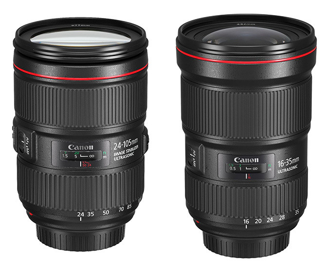 Nowe obiektywy: EF 24-105mm f/4L IS II USM i EF 16-35mm f/2.8L III USM