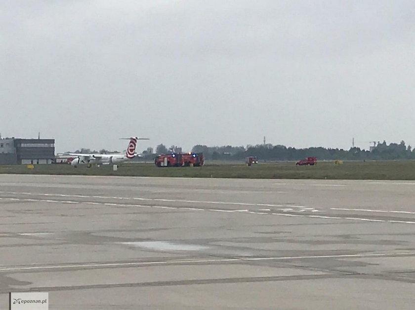 Poznań: awaryjne lądowanie samolotu z Warszawy. Miał zepsuty silnik