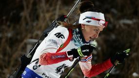 Monika Hojnisz wypoczywa po treningu