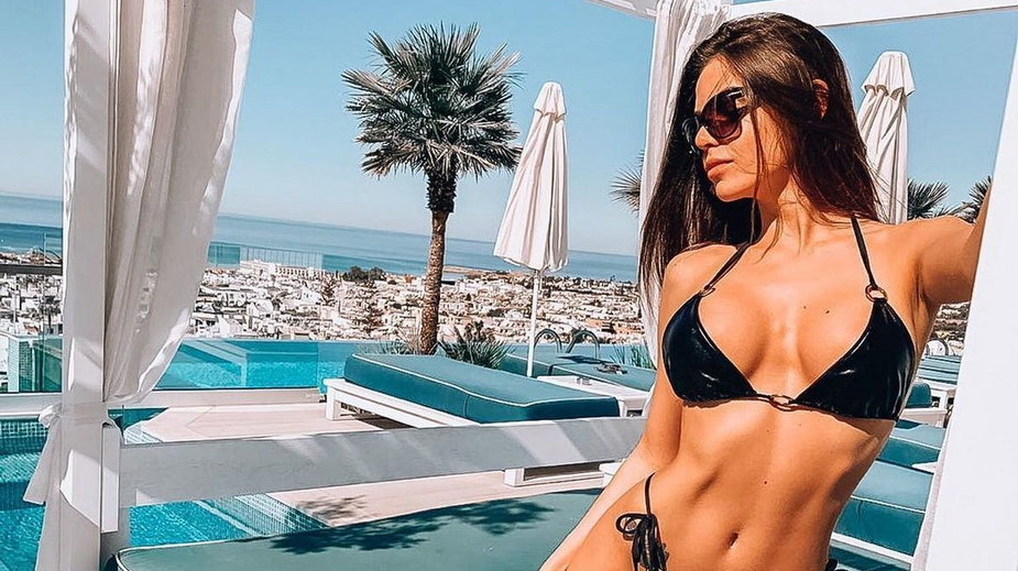 Aleksandra Bąk na wakacjach