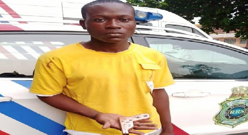 Toheeb Isiaka was arrested with a toy gun [LSPC]