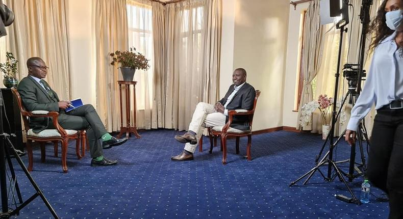 Deputy President William Ruto during a past interview with Citizen TV's Joe Ageyo