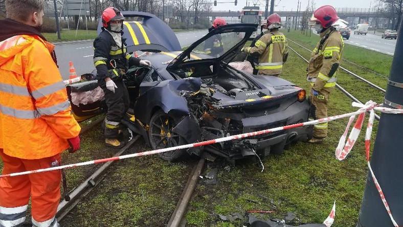 Ferrari 488 Pista rozbite w Łodzi