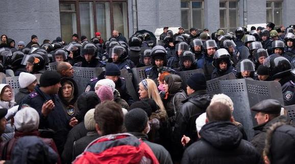 Demonstranti u Harkovu