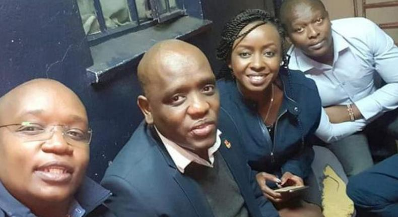 Jacque Maribe visits Dennis Itumbi after arrest by DCI detectives. Samwel Gateri Wanjiru asks court to expunge his testimony in Dennis Itumbi forgery case