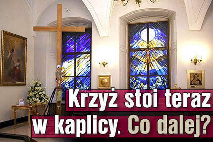 Krzyż stoi w kaplicy. Co dalej?