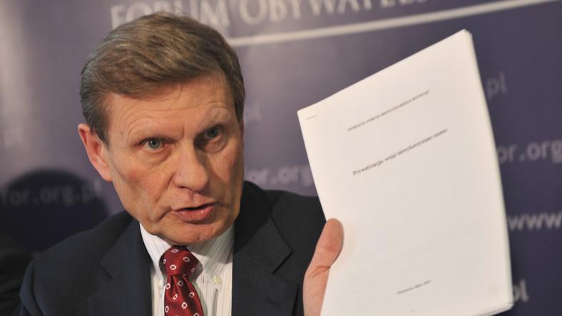 Leszek Balcerowicz wzywa rząd do wprowadzania reform
