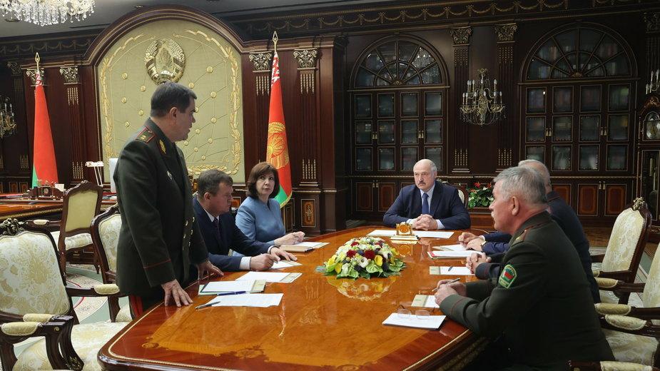 Aleksander Łukaszenka na posiedzeniu Rady Bezpieczeństwa w Mińsku