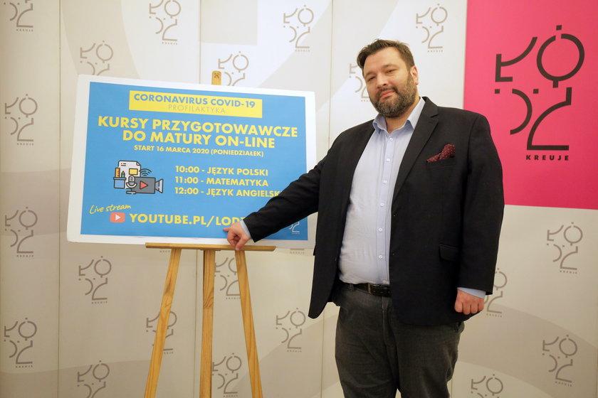 Piotr Bors, szef Departamentu Edukacji UMŁ