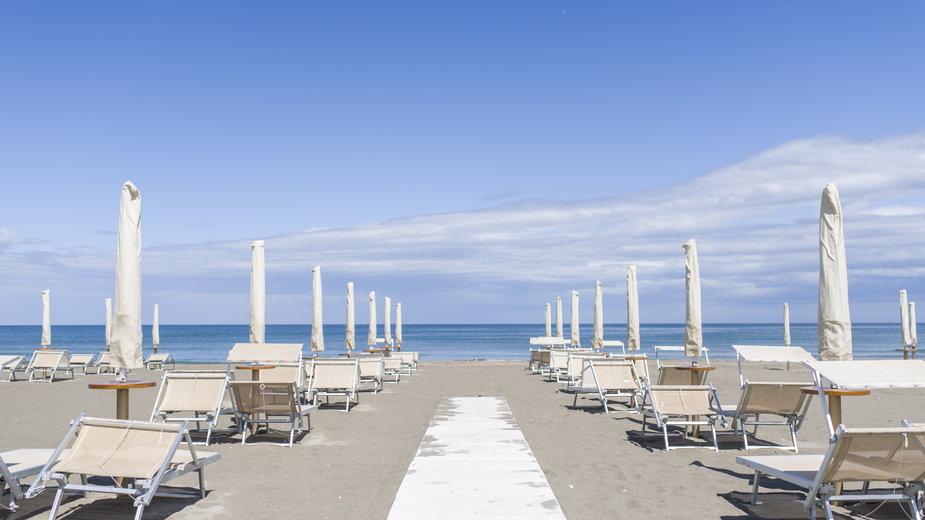 Plaża w miejscowości Cervia, Włochy