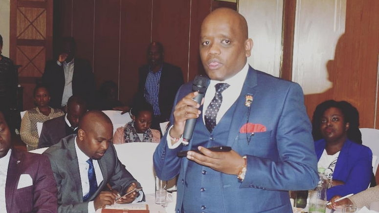 Image result for dennis itumbi at harambee annex