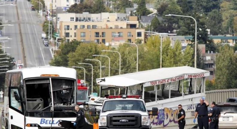 Four students killed after tour buses collide on Seattle bridge