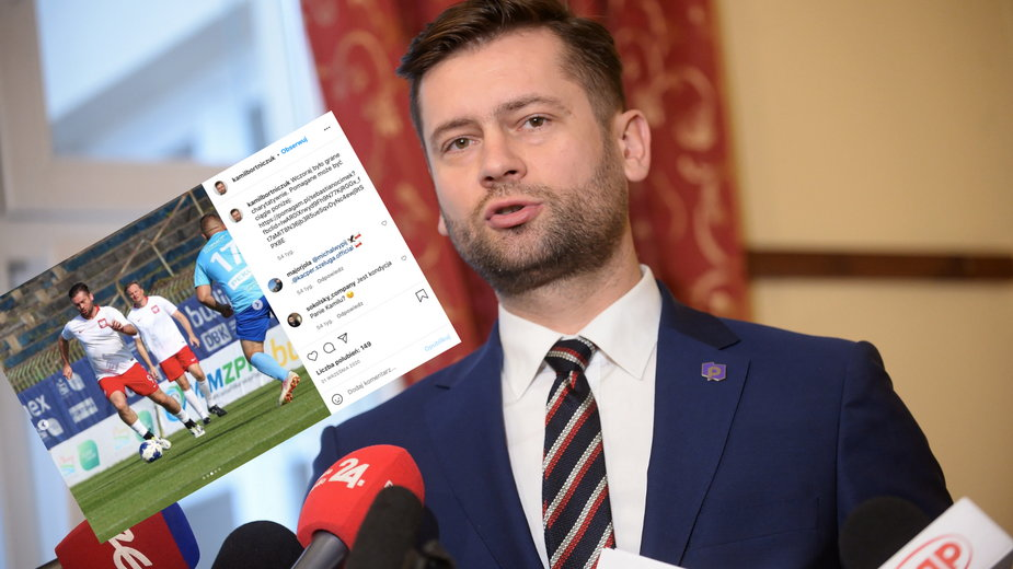 Kamil Bortniczuk przez wiele lat grał w klubie GKS Głuchołazy (screen: Instagram.com/@kamilbortniczuk)