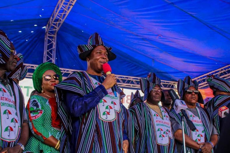 Senate President Bukola Saraki at the PDP presidential campaign rally in Benue state