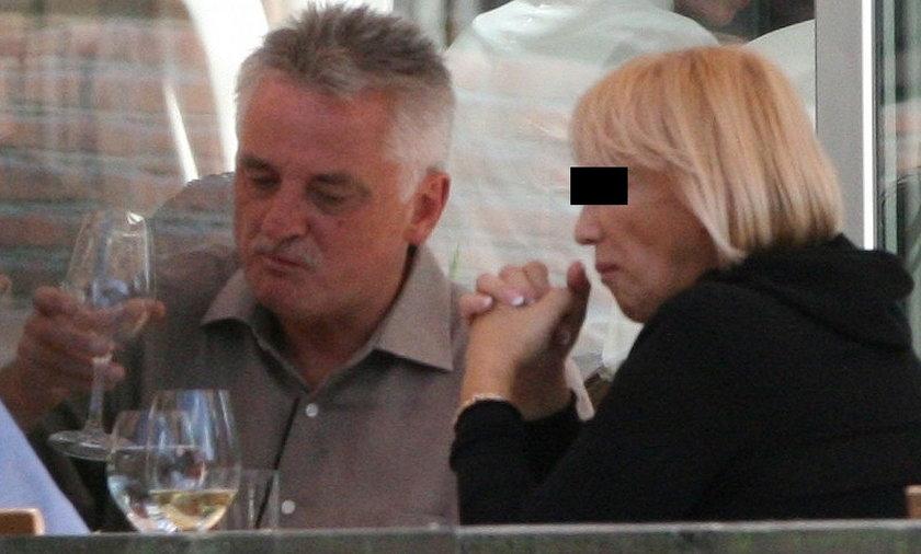 Mirosław Drzewiecki i Janina Drzewiecka w restauracji