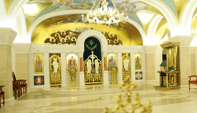"""""""Ambulatorijum"""" - mesto gde će počivati patrijarh Irinej nalazi se iza oltara kripte."""
