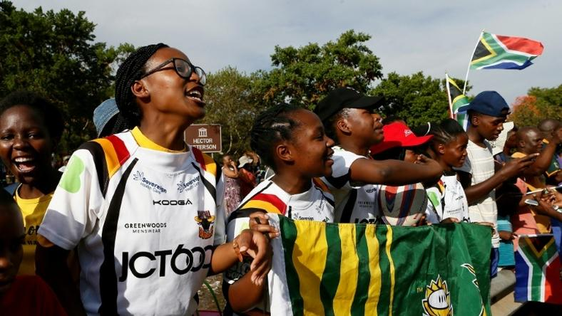 Soweto Rugby School Academy's girl players await the return of their Springbok heroes after winning the World Cup