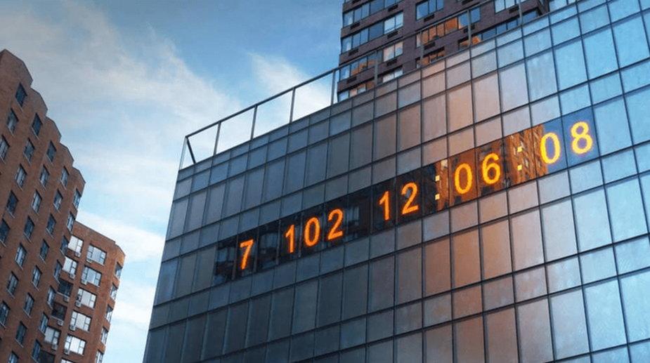 Słynny nowojorski zegar zaczął odliczać czas do katastrofy klimatycznej, fot. climateclock.world