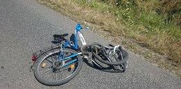 Rowerzysta zginął uderzony przez przyczepą