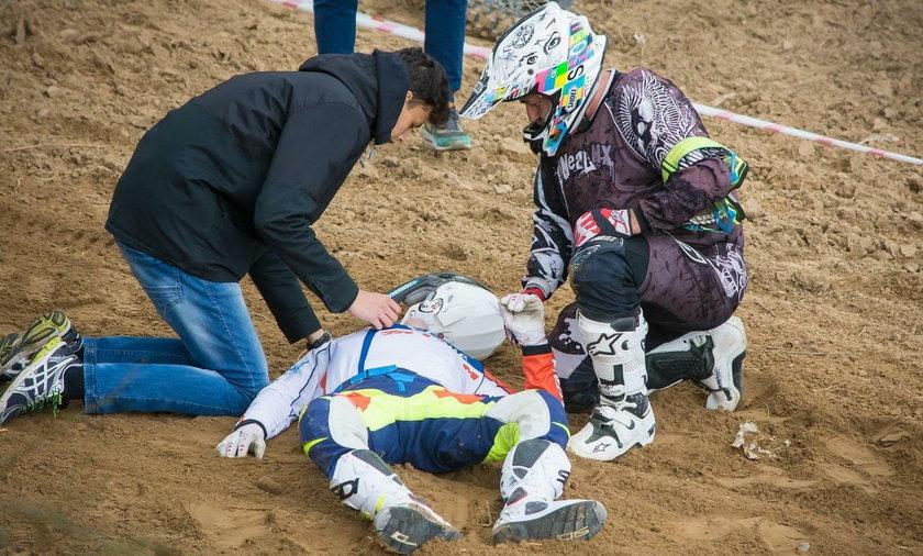"""Poważny wypadek Golloba. """"Ma uraz głowy i kręgosłupa"""""""