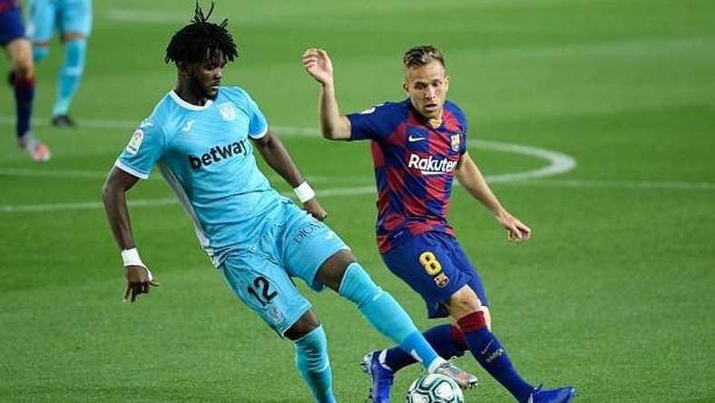 Chidozie Awaziem had a poor outing as Leganes lost 2-0 away at Barcelona  (Getty Images)