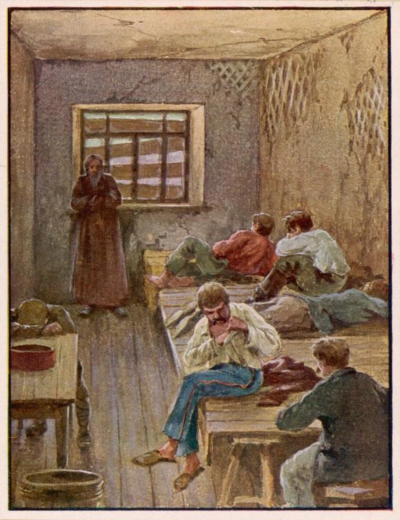 Žrtve su bukvalno razdirane - zatvorenici Čeke na Kerijevoj ilustraciji iz 1922.