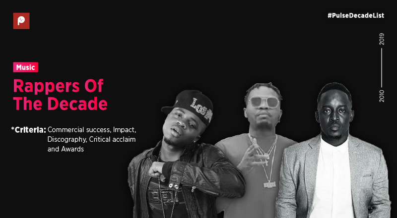 Here are the top 10 hottest Nigerian rappers of the decade (The 2010s)
