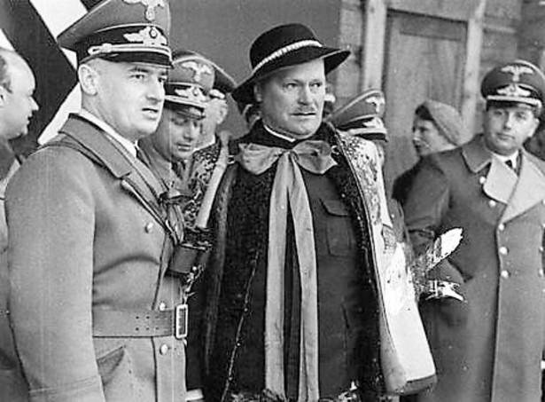 Hans Frank i Wacław Krzeptowski (kwiecień 1940 r.)
