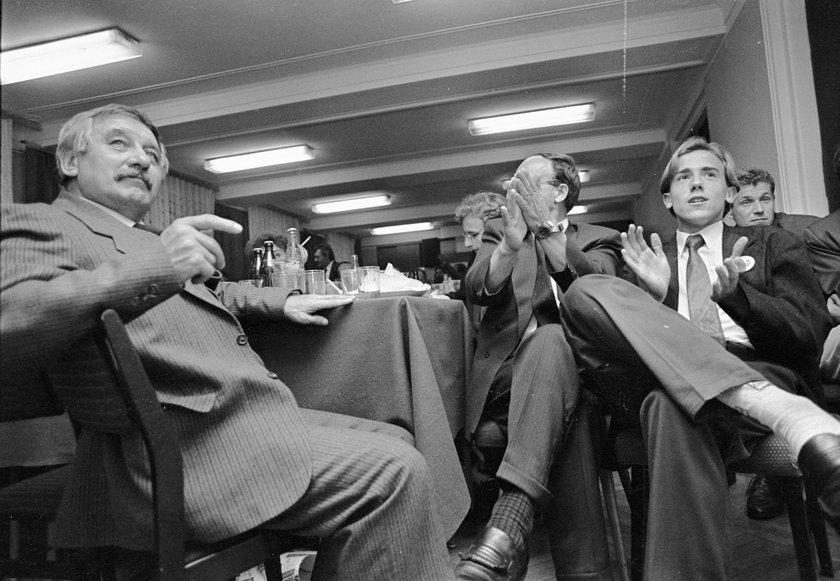 1993 rok. Sztab wyborczy Unii Pracy