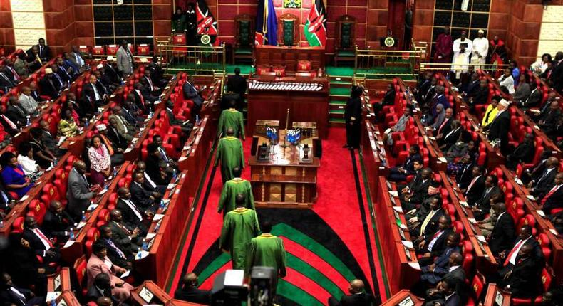 Kenyan parliament during a past session
