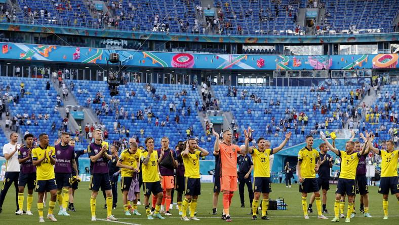 Radość Szwedów po meczu ze Słowacją