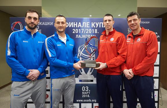 Detalj sa najave prošlogodišnjeg finala Kupa Srbije