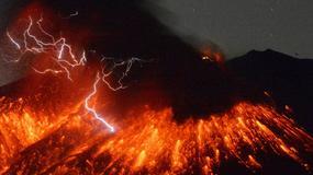 Spektakularna erupcja wulkanu Sakurajima na południu Japonii