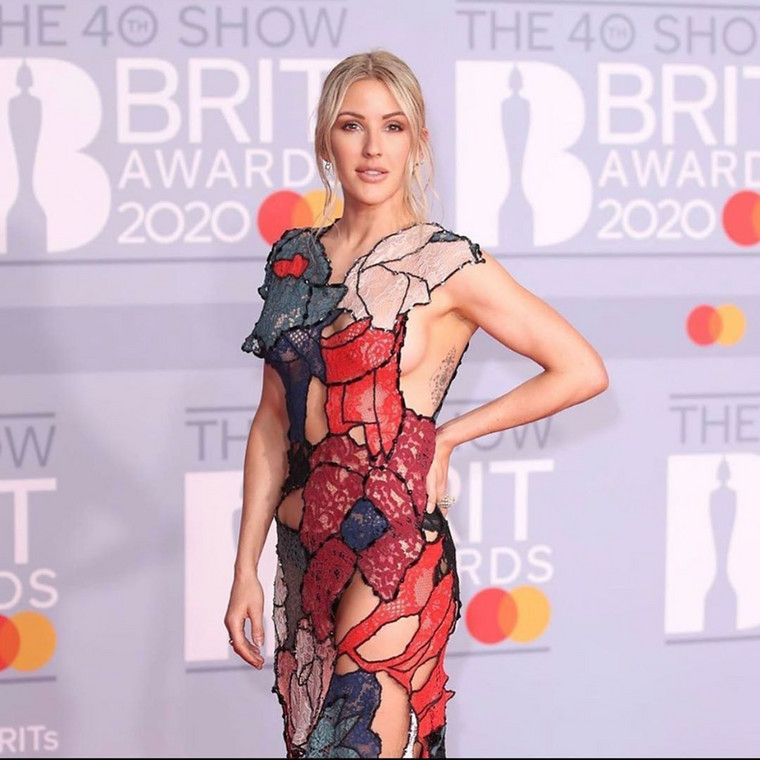 Ellie Goulding at the 40th BRIT Awards Red Carpet [Getty Images]