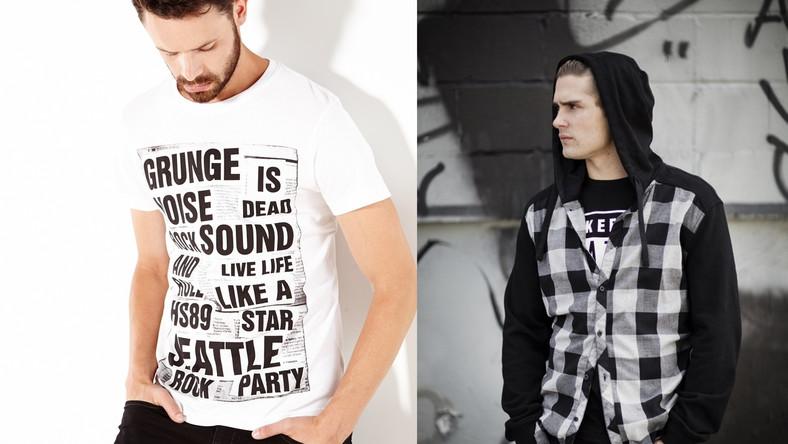 Kolorystycznie grunge'owa kolekcja HOUSE'a jest bardzo minimalistyczna, niemal monochromatyczna – królują w niej czerń, biel i szare melanże z dodatkiem bordo i czerwieni. Ważnym elementem jest jeans, koniecznie mocno sprany i podniszczony, oraz flanela w kratę w postaci obowiązkowych koszul wiązanych w pasie.