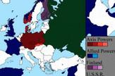Mapa Evrope, II svetski rat