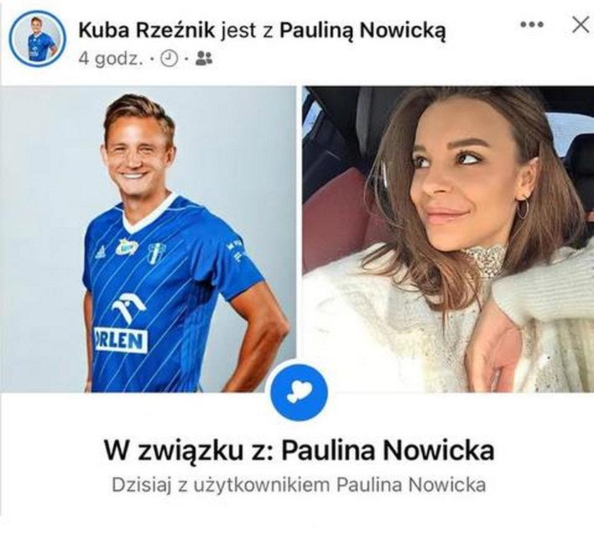 Jakub Rzeźniczak ma nową partnerkę. Jest nią Paulina Nowicka. Tę rewelację potwierdził w mediach społecznościowych
