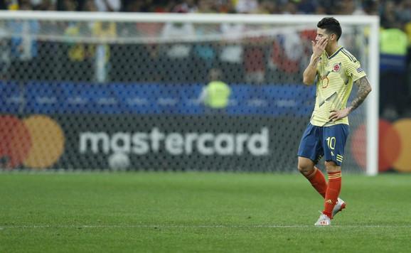 Radamel Falkao na kraju meča Kolumbija - Čile u četvrtfinalu Kopa Amerika