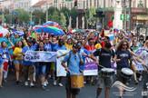 Međunarodna studentska nedelja u Beogradu Defile zastava 3