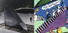 """Pomnik smoleński niczym schody z """"Tytusa"""". Sasin: Był poważny konkurs. Nie wiem, jak wygląda konstrukcja z komiksu"""