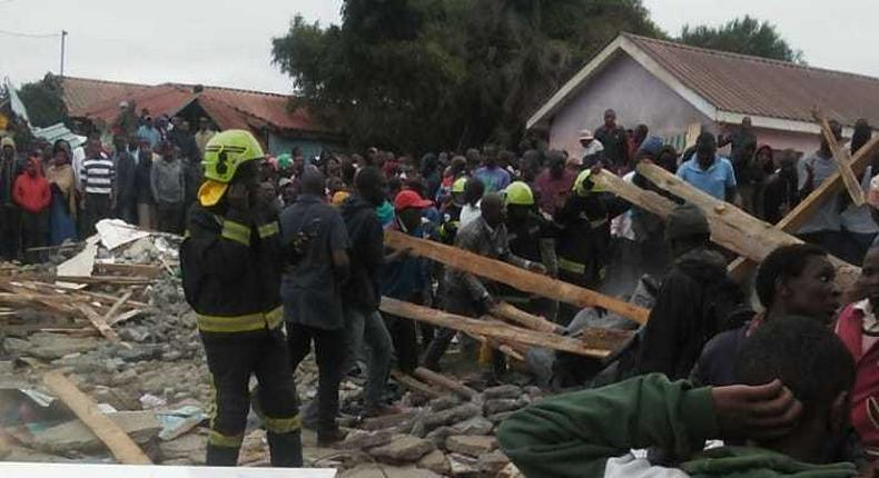 Pupils reported dead, scores seriously injured as Precious Talent School building collapses in Dagoretti along Ngong Road