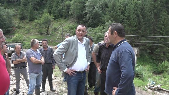 Predsednik opštine Ivanjica Zoran Lazović obišao teren